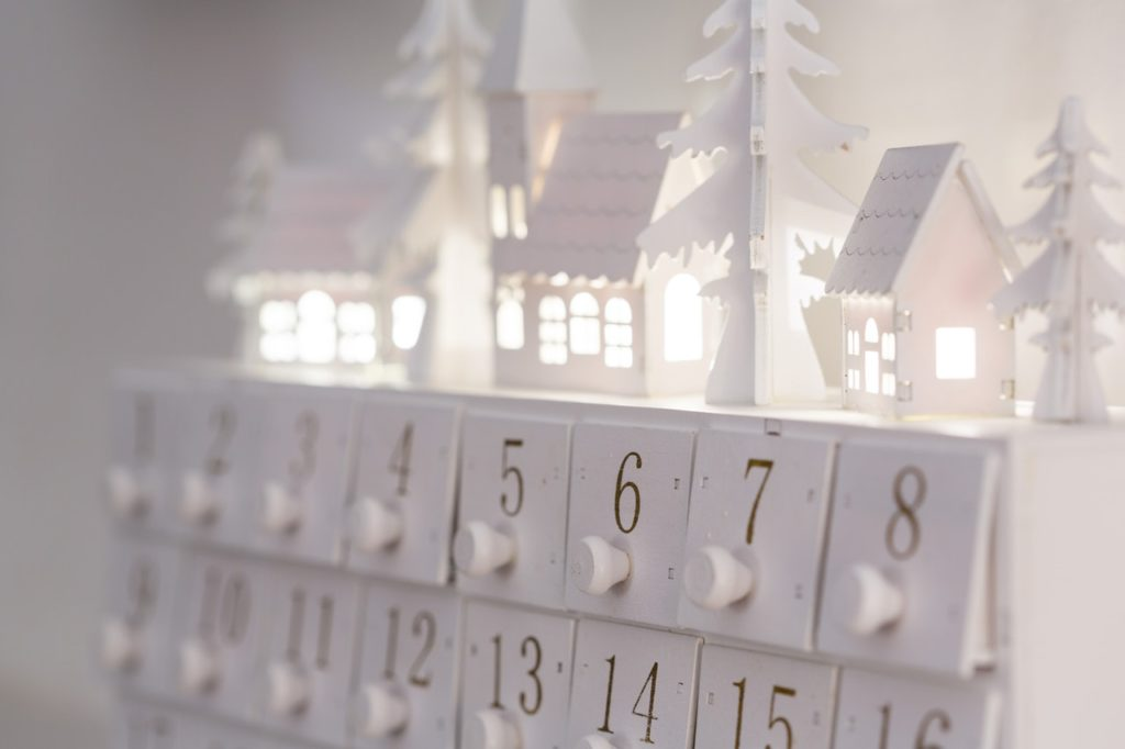 In our personal Advent calendar houses, the reminders of His love are handpicked for His precious daughters.