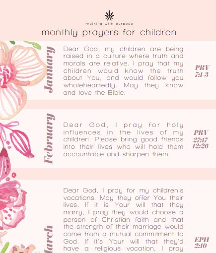 prayers for children thumb